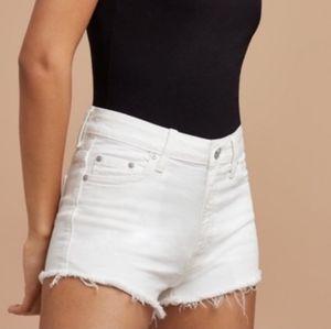 Talula White Cut Off Shorts
